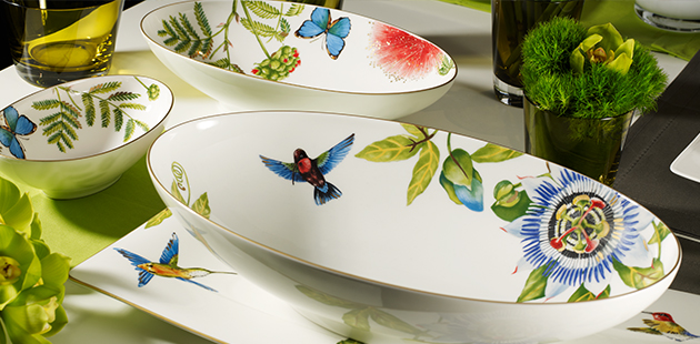 Villeroy & Boch - Collection Amazonia Tropical diversity on minimalist porcelain design