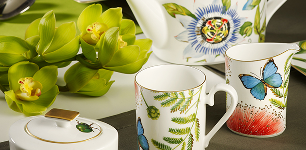 Villeroy & Boch Collection Amazonia Tropical diversity on minimalist porcelain design